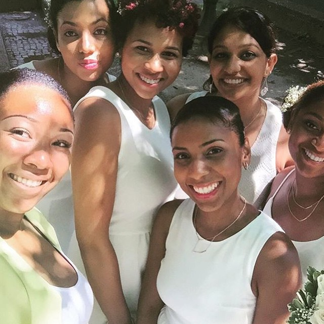 Another pic from the wedding! #bridesmaids I had a blast, but am still tired! LOL