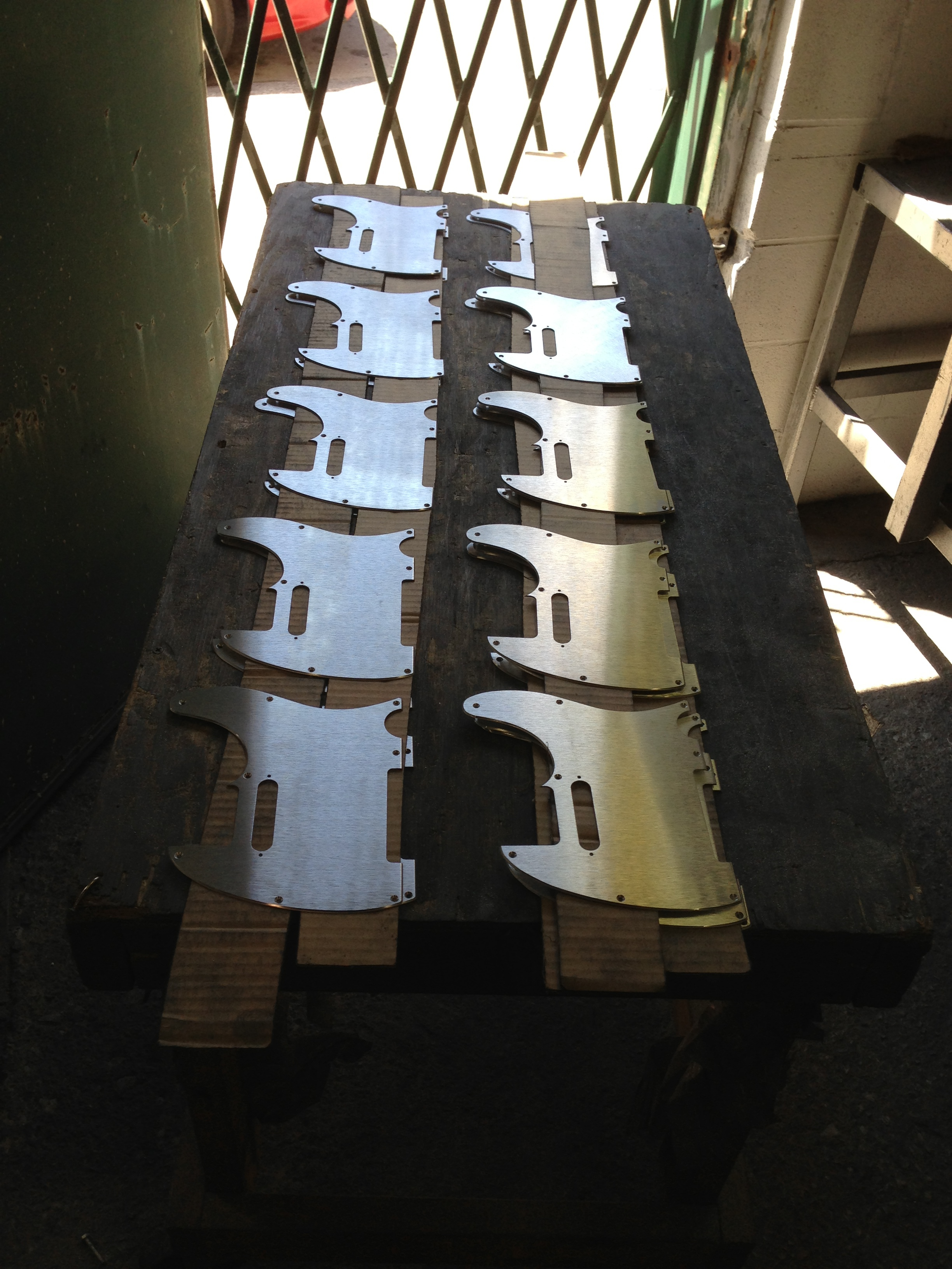 Aluminum Pickguards for  Fender Telecaster Guitars .  Pre-anodize.