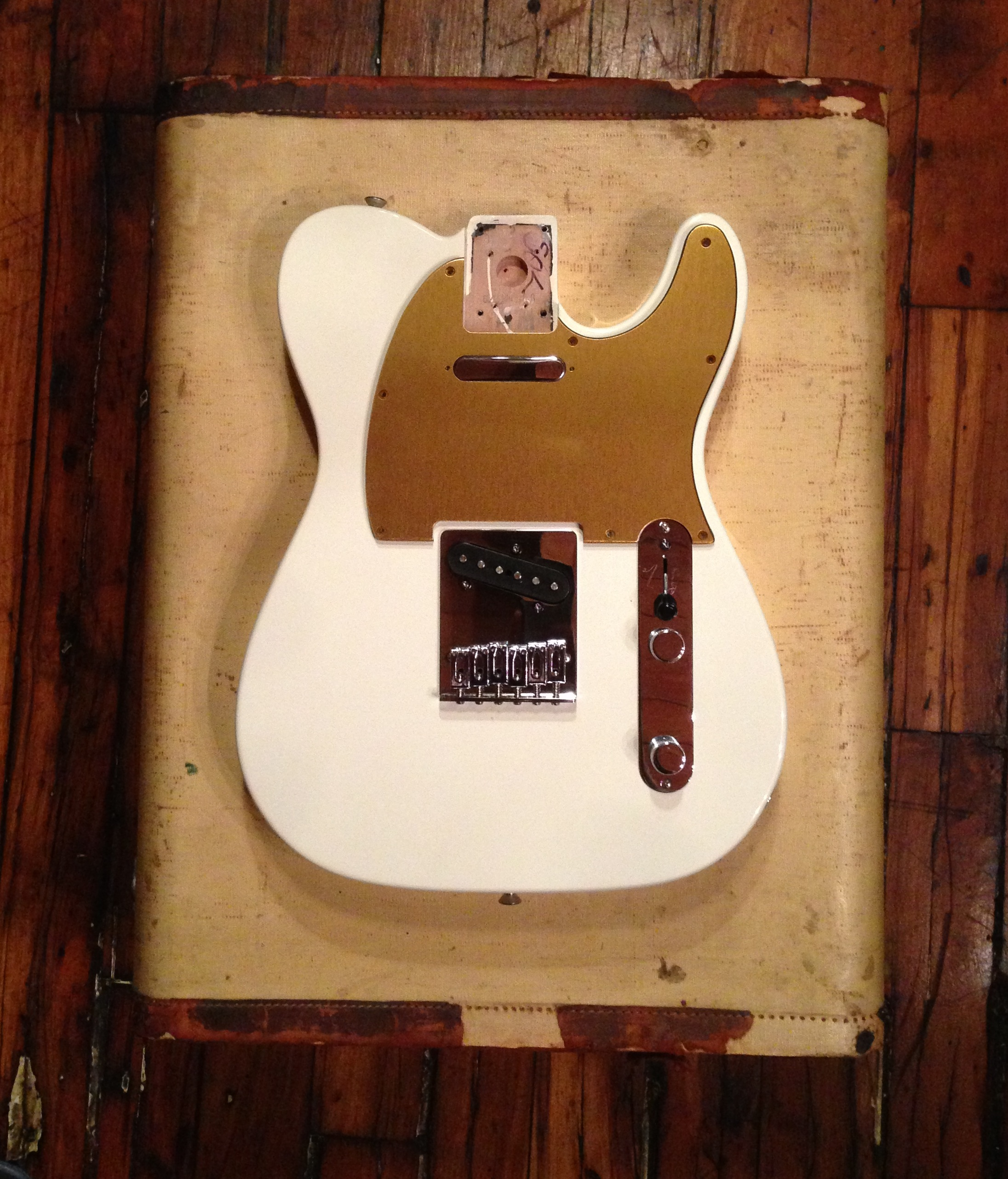 Fender Telecaster with Brass Anodized Aluminum Pickguard by ANOTONE.