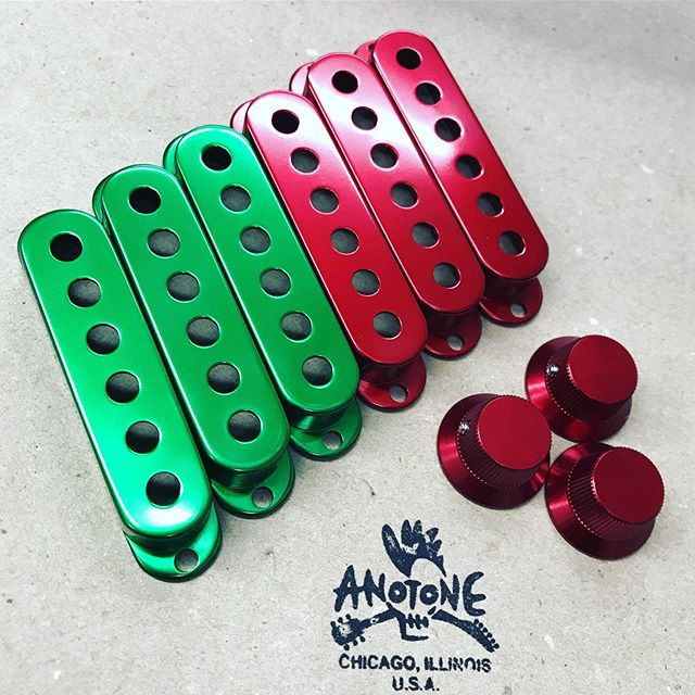 Christmas🎄vibes in the shop today! . . . ☠️☠️WWW.ANOTONE.COM☠️☠️ . . . #anotone #anotoneparts #guitarporn #fender #fenderstrat #stratocaster #fenderguitar #fenderguitars #guitarplayer #guitarparts #customguitar #customguitarbuild #guitarbuilding #guitarbuilder #luthier #fenderstratocaster #telecaster #fendertele #fendertelecaster #pickguard #electricguitar #guitar