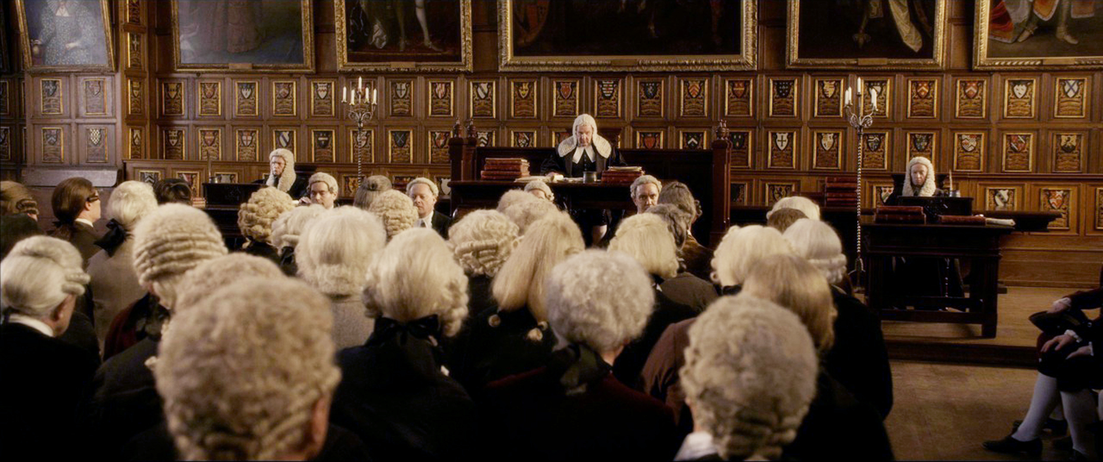 Courtroom scenes shot at Middle Temple, London.
