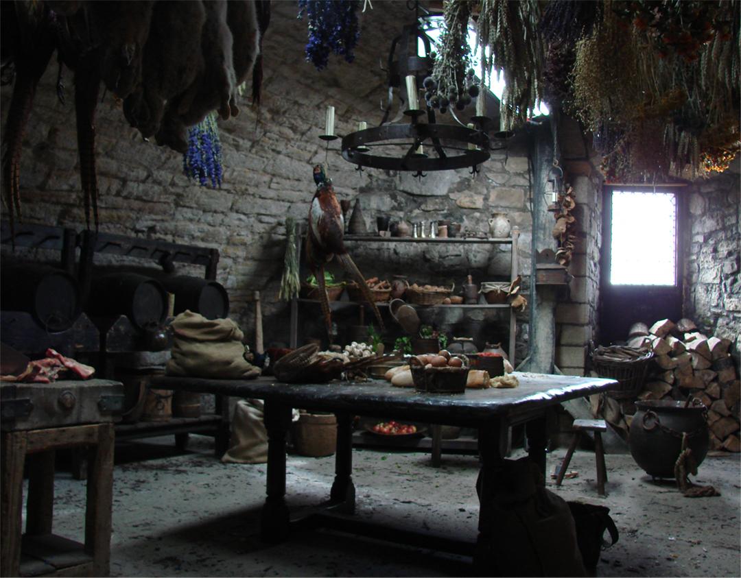 Interior kitchen set.