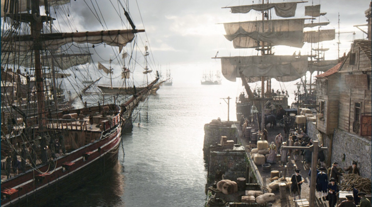 Bristol Dock scene complete with additional CG ships.