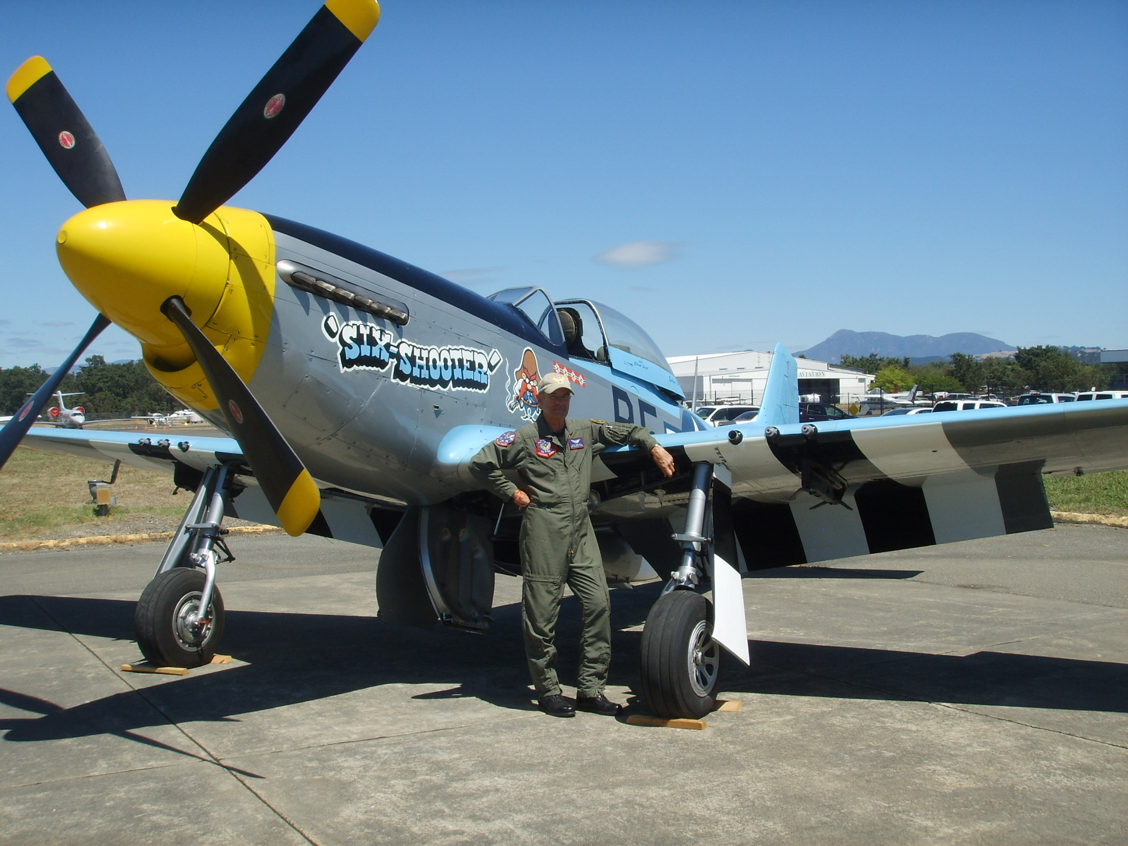 "P-51D Mustang ""Six Shooter"" with Pilot Chuck ""Odin"" Hall"