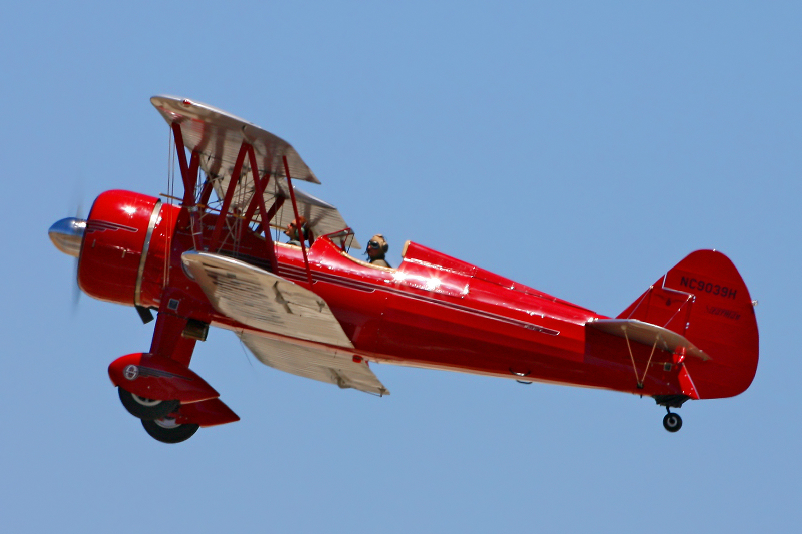 "Antique 450Hp Stearman Biplane, ""D'Marie"", owned by Bob Simon"
