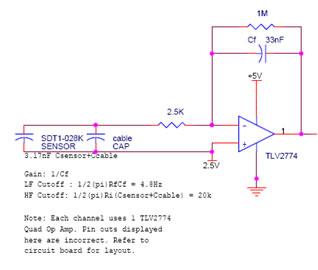 Figure 1 Charge Mode Amplifier for Piezo-film Sensor