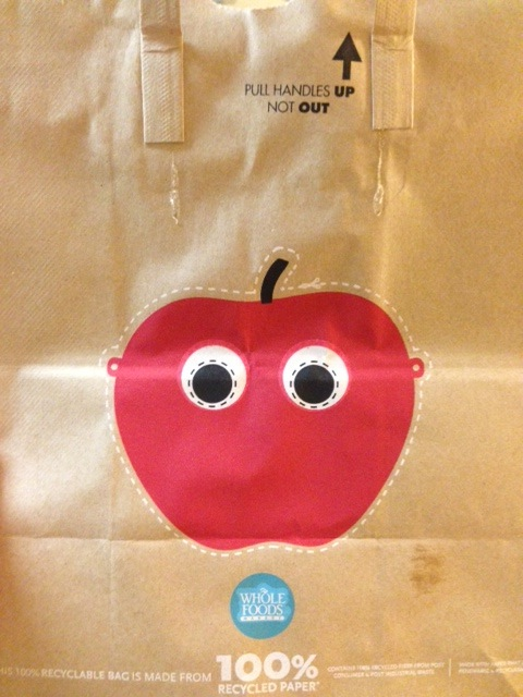 Whole Foods Bag Apple Facemask