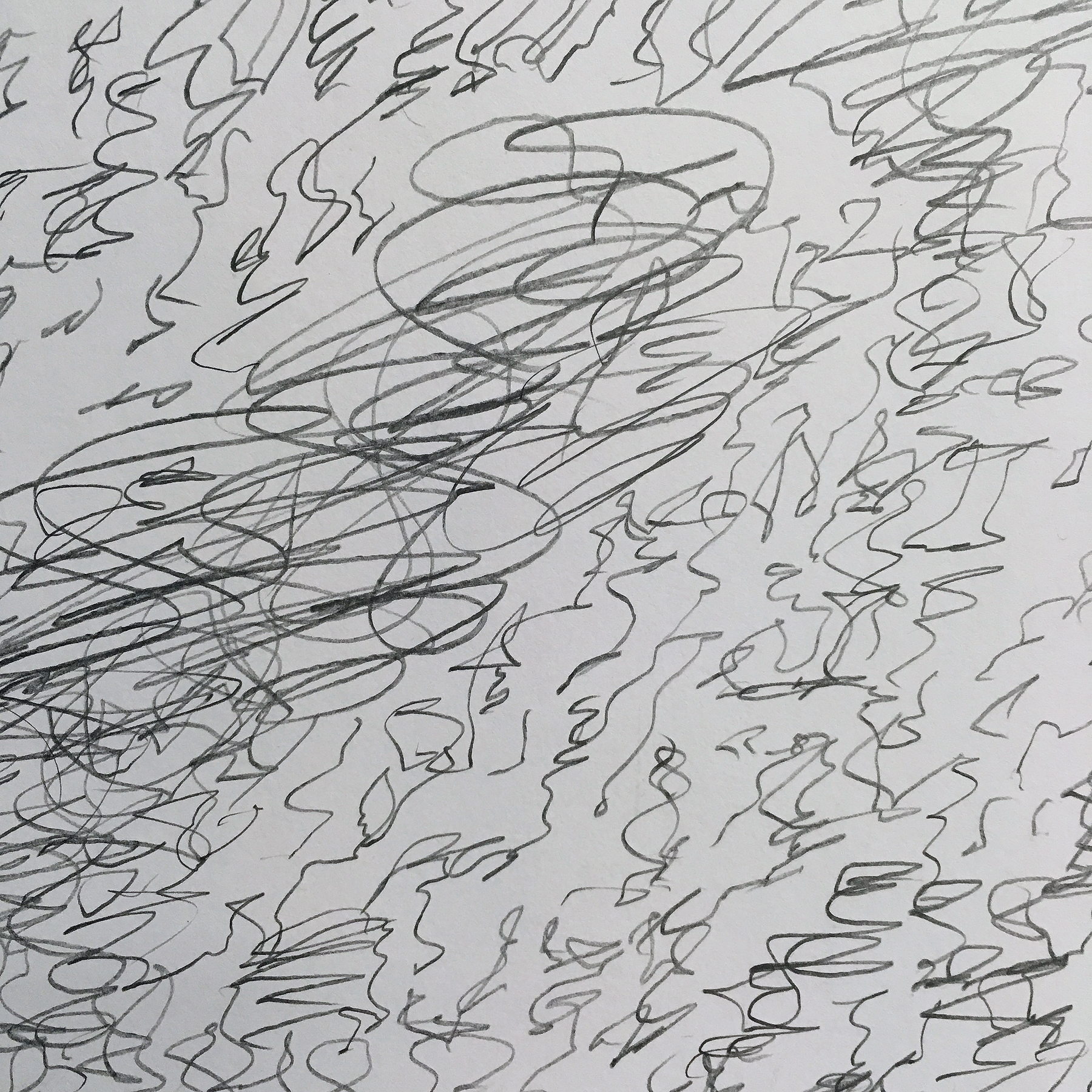 "Silver War Storm,  detail, 2019  Graphite on paper  80"" x 60"""