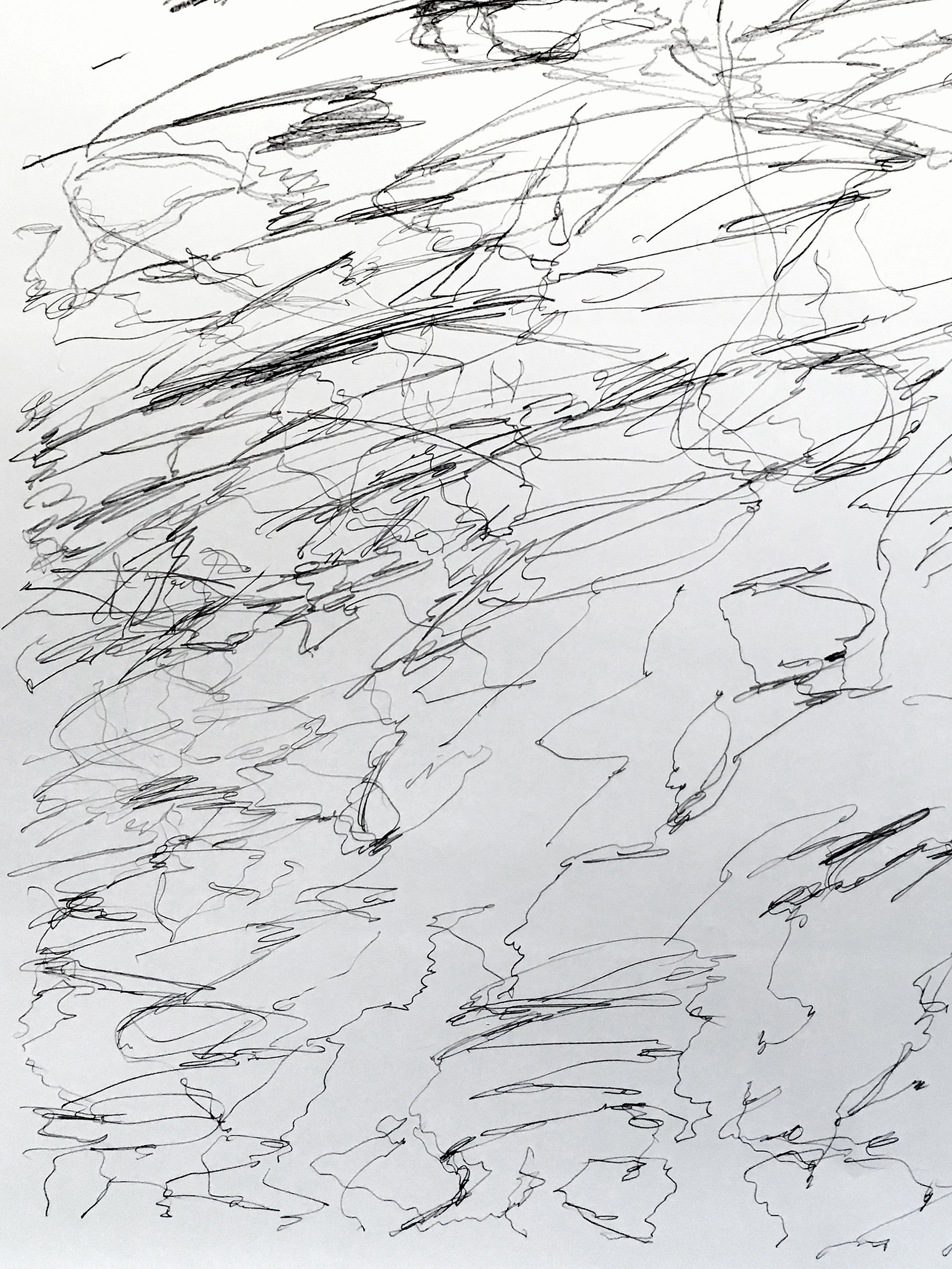 "Silver War Storm, study 2,  detail, 2019  Graphite on paper  44"" x 44"""