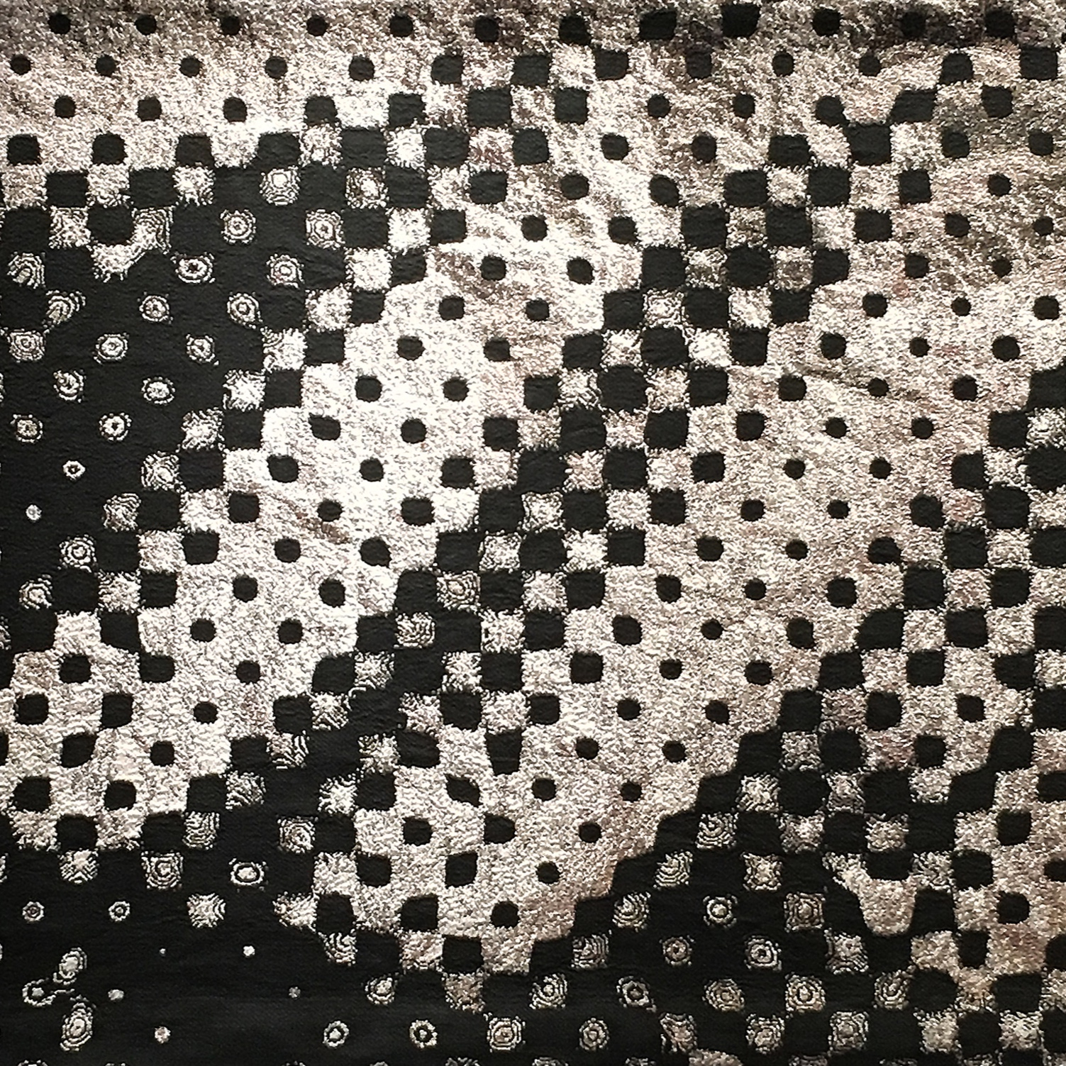 "Untitled, 1972 , detail, 2019  Wool, cotton, and lurex  126""w x 78""h"