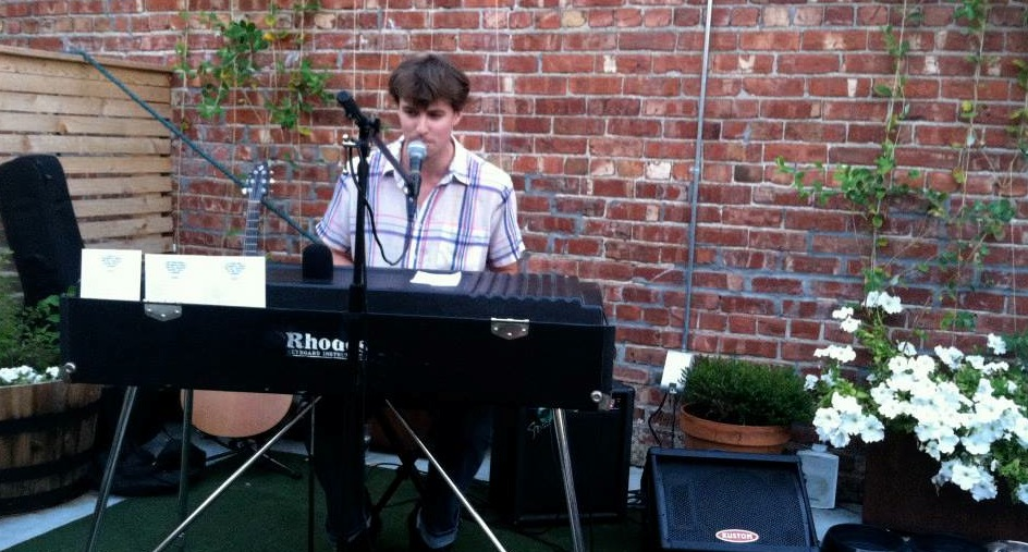 me performing at one of Benson's new pubs/microbreweries, the  Benson Brewery.