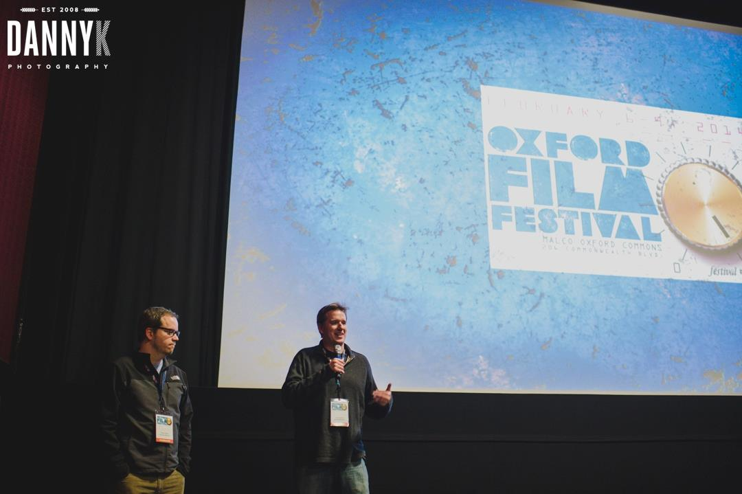 Smith and Gardner answer questions after screening their film