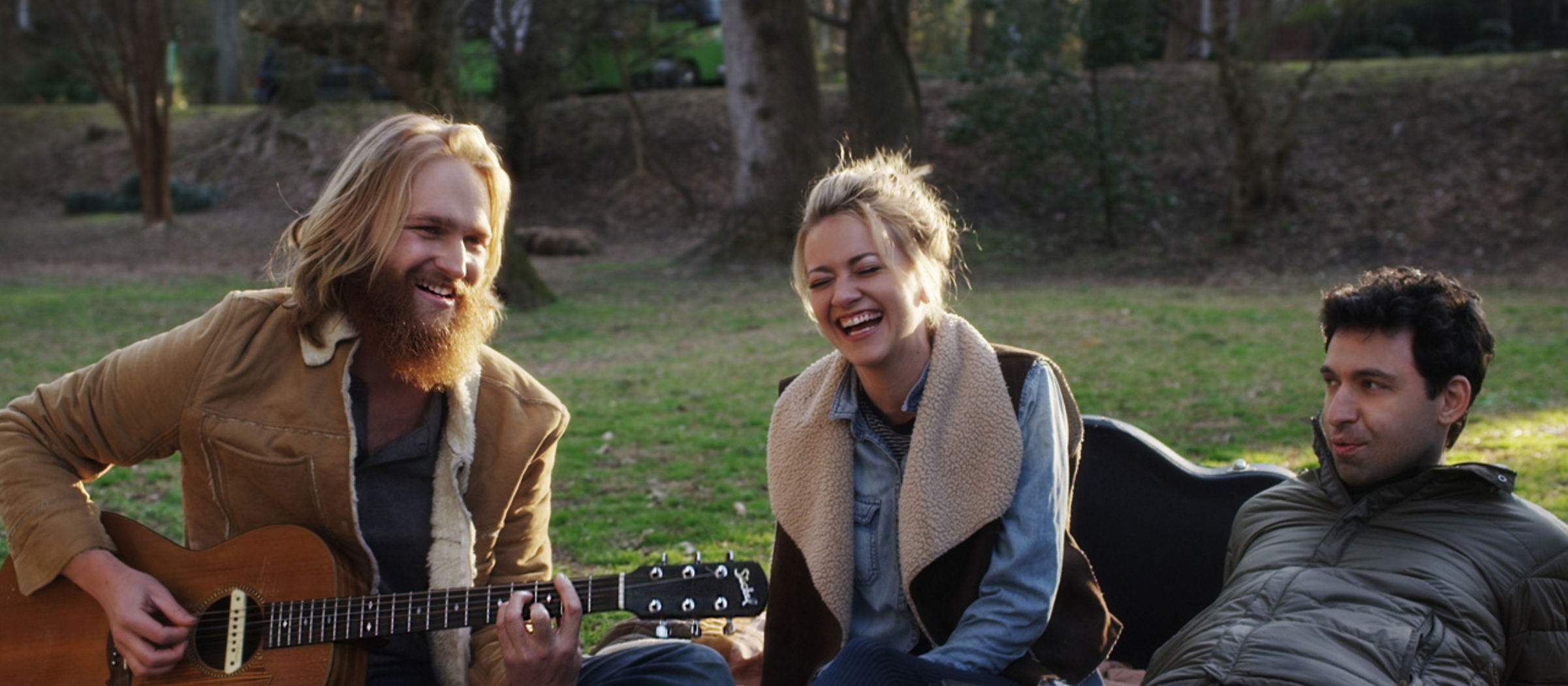 Wyatt Russell (Left) and Alex Karpovsky (right) star in Folk Hero & Funny Guy.