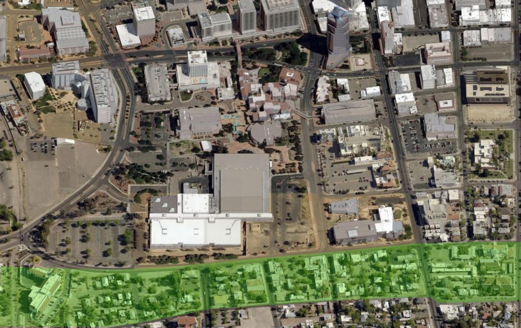 Downtown Tucson Aerial 2013