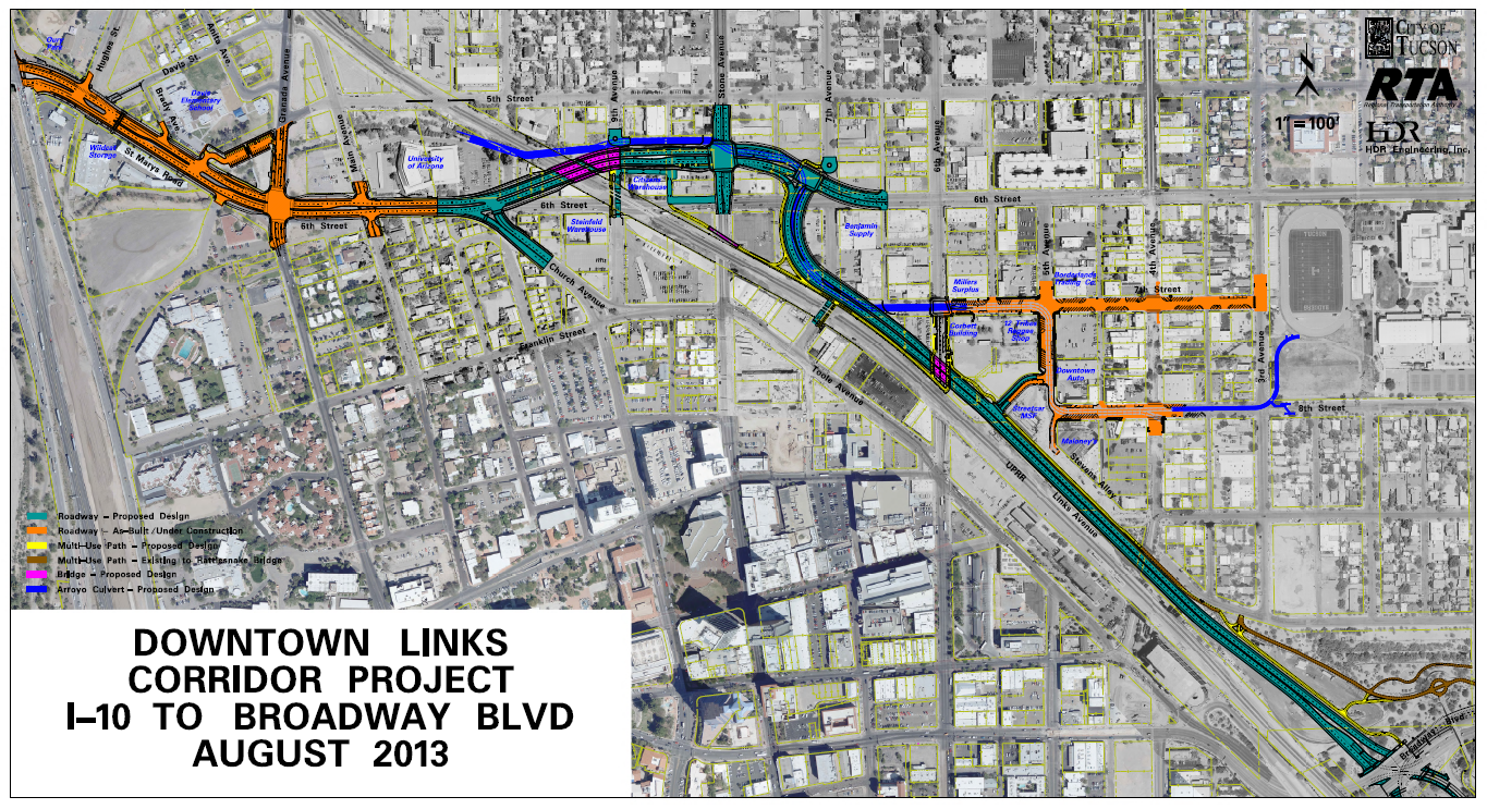 Tucson RTA Downtown Links Corridor Project