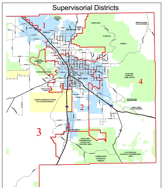 Pima County Board of Supervisors Districts