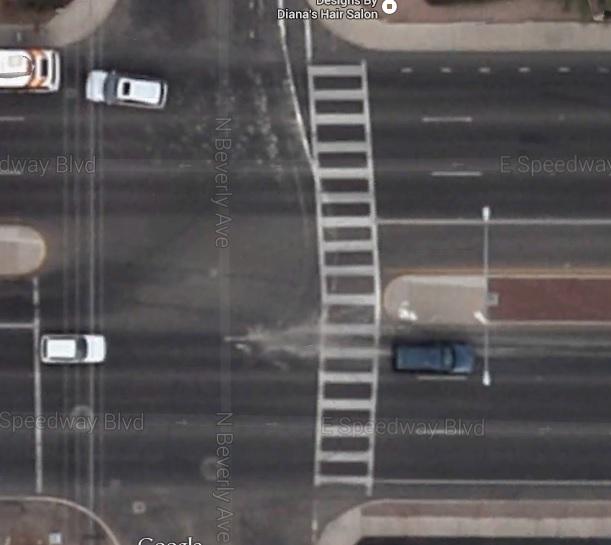 Speedway Boulevard crosswalk at Beverly Avenue