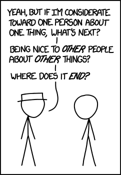 Government lawyers are never nice to anybody.  Attribution:  http://xkcd.com/1332/  Under  Creative Commons Attribution NonCommercial 2.5 License