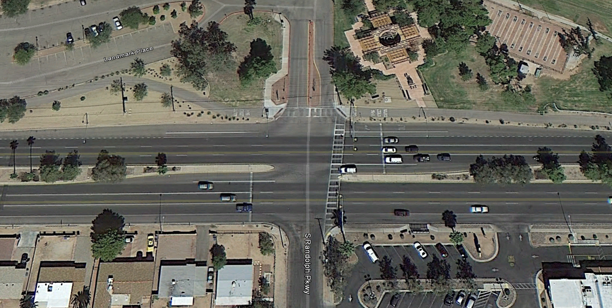The City of Tucson installed a HAWK at this intersection using the previously-marked crosswalk.
