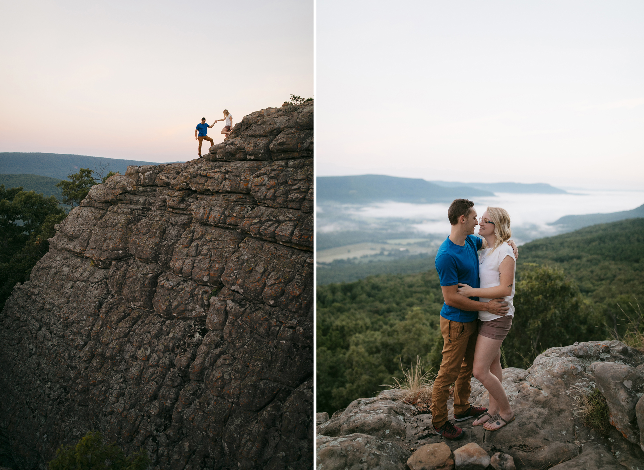 Adventurous Engagement Photography Session at Sam's Throne by Buffalo River Wedding Photographer Colby and Jess