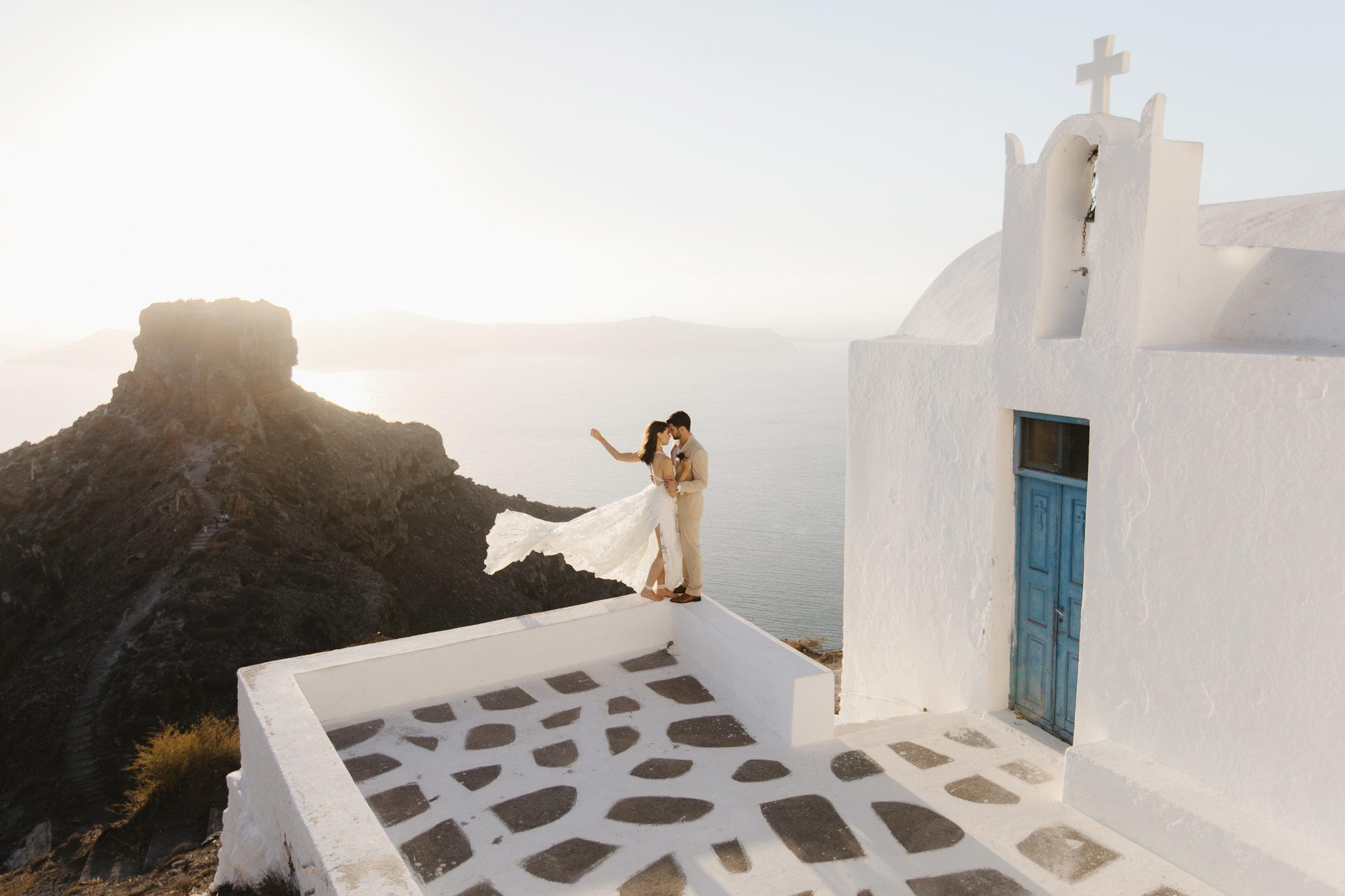 Santorini, Greece  Destination Wedding Photographer