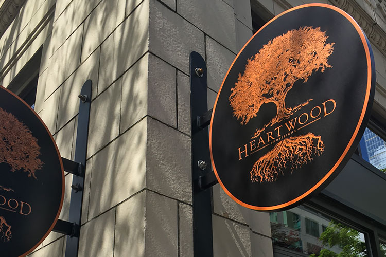 Heartwood Provisions Copper SIgn