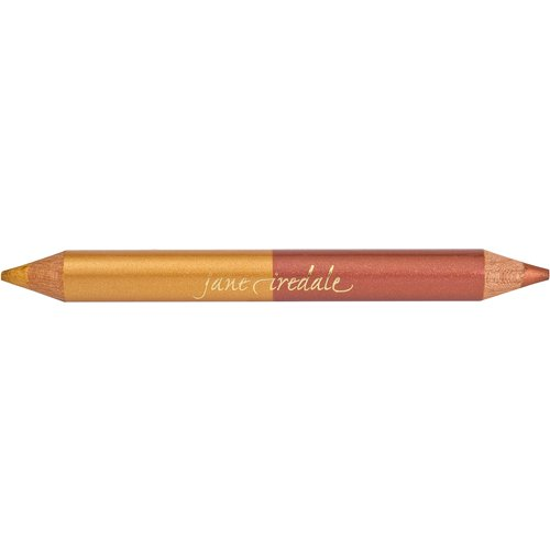 3. Use Jane Iredale Double Dazzle Highlighter Pencil for eyeliner, highlight brows, inner eyes and your collar bone & line lips or as highlighting blush