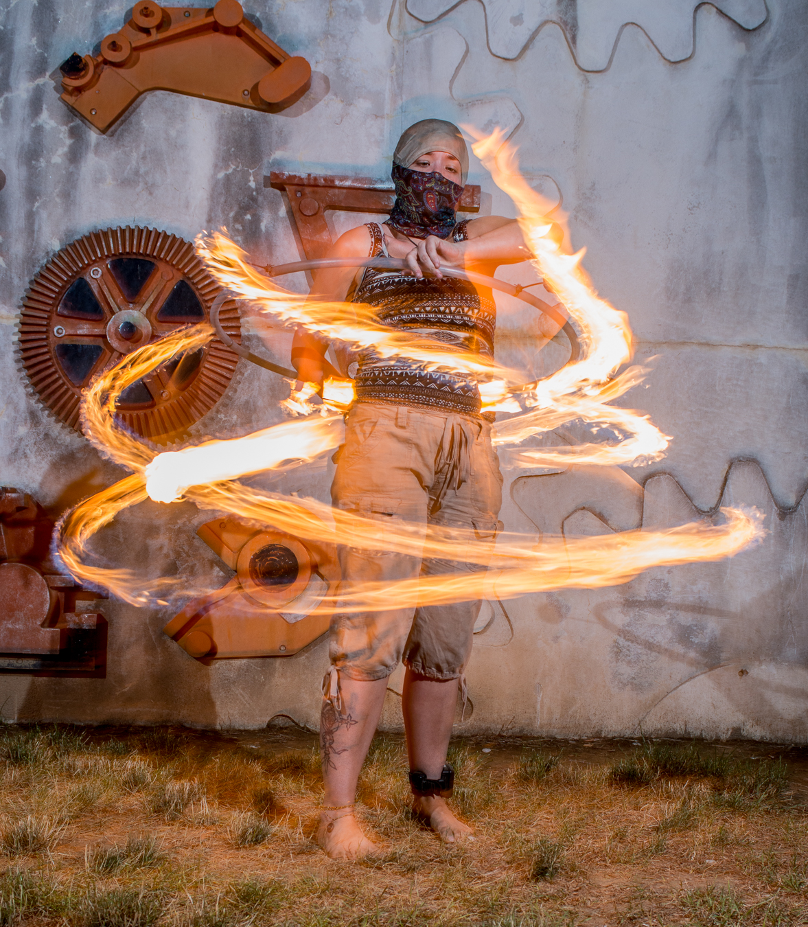 Korin Joella spinning fire at the June Creek Fire in York, PA