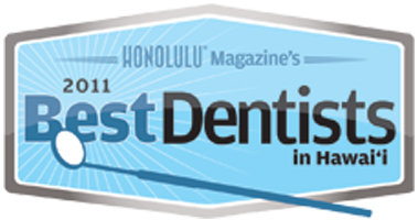 Dr Wade Takenishi has been featured in Honolulu Magazine's 2011 Best Dentists in Honolulu
