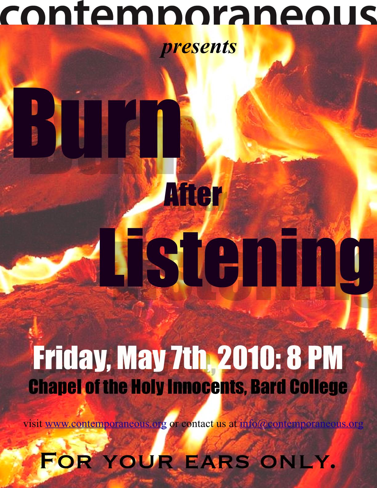 Burn After Listening Poster.jpg