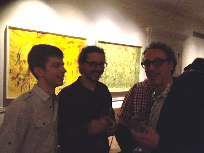 Contemporaneous co-artistic directorsDavid Bloom andDylan Mattingly with Brad Krumholz, co-founder of the NACL-Theatre at post-concert celebration.