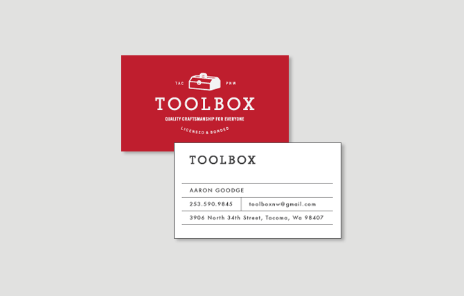 Toolbox business cards