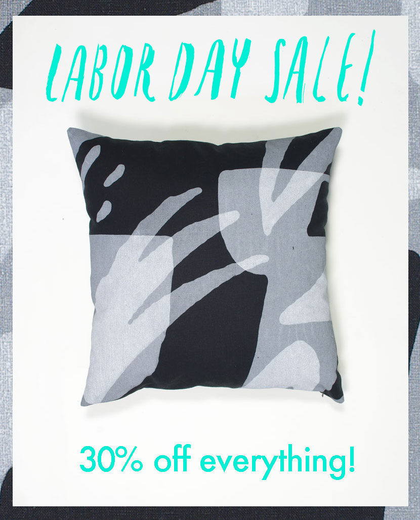 screen printed handmade pillow