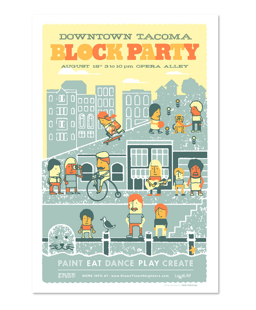 Tacoma Block Party branding