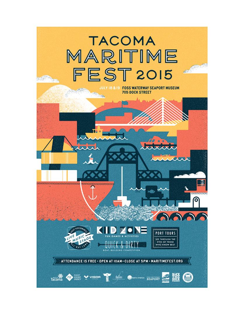 Tacoma Maritime Fest branding Year Round Co.