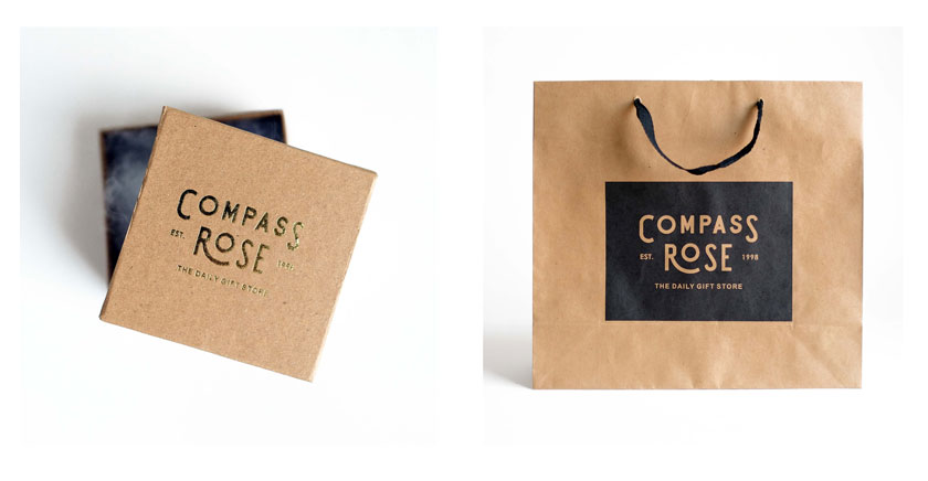 Compass Rose packaging
