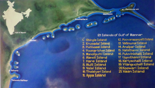 Beaches & Islands of India Map