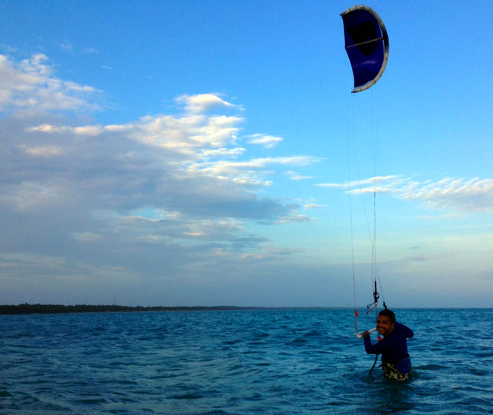 Kitesurfing in paradise- Pambaan Island, Tamil Nadu