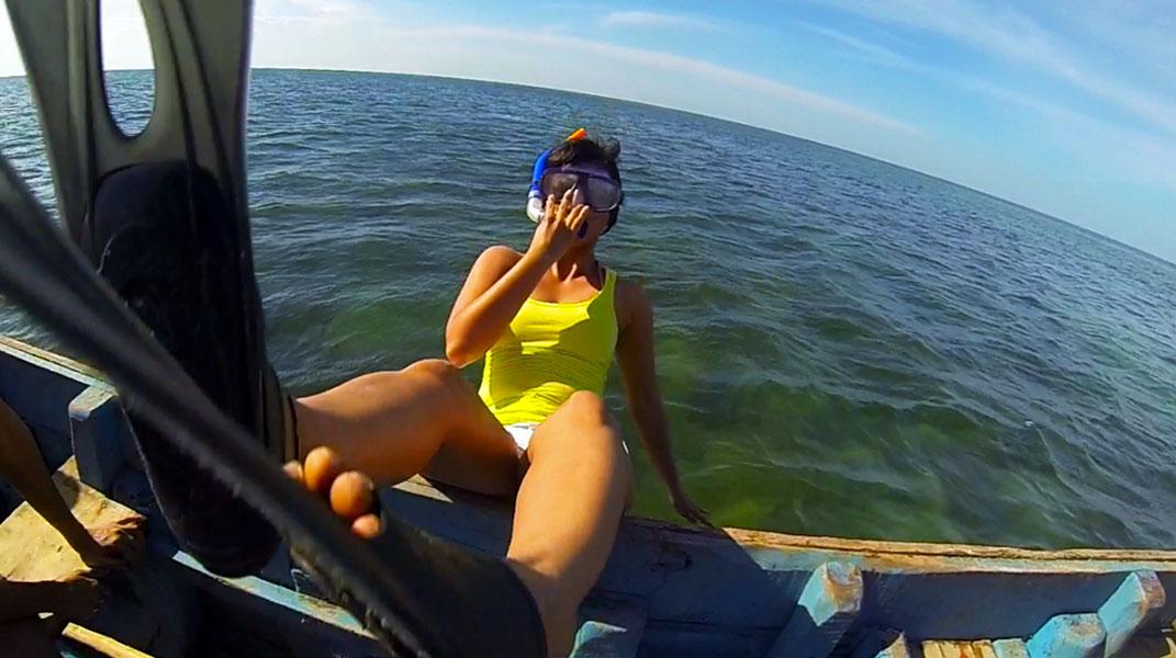 Snorkelling in Mandapam, Rameshwaram, Tamil Nadu, India