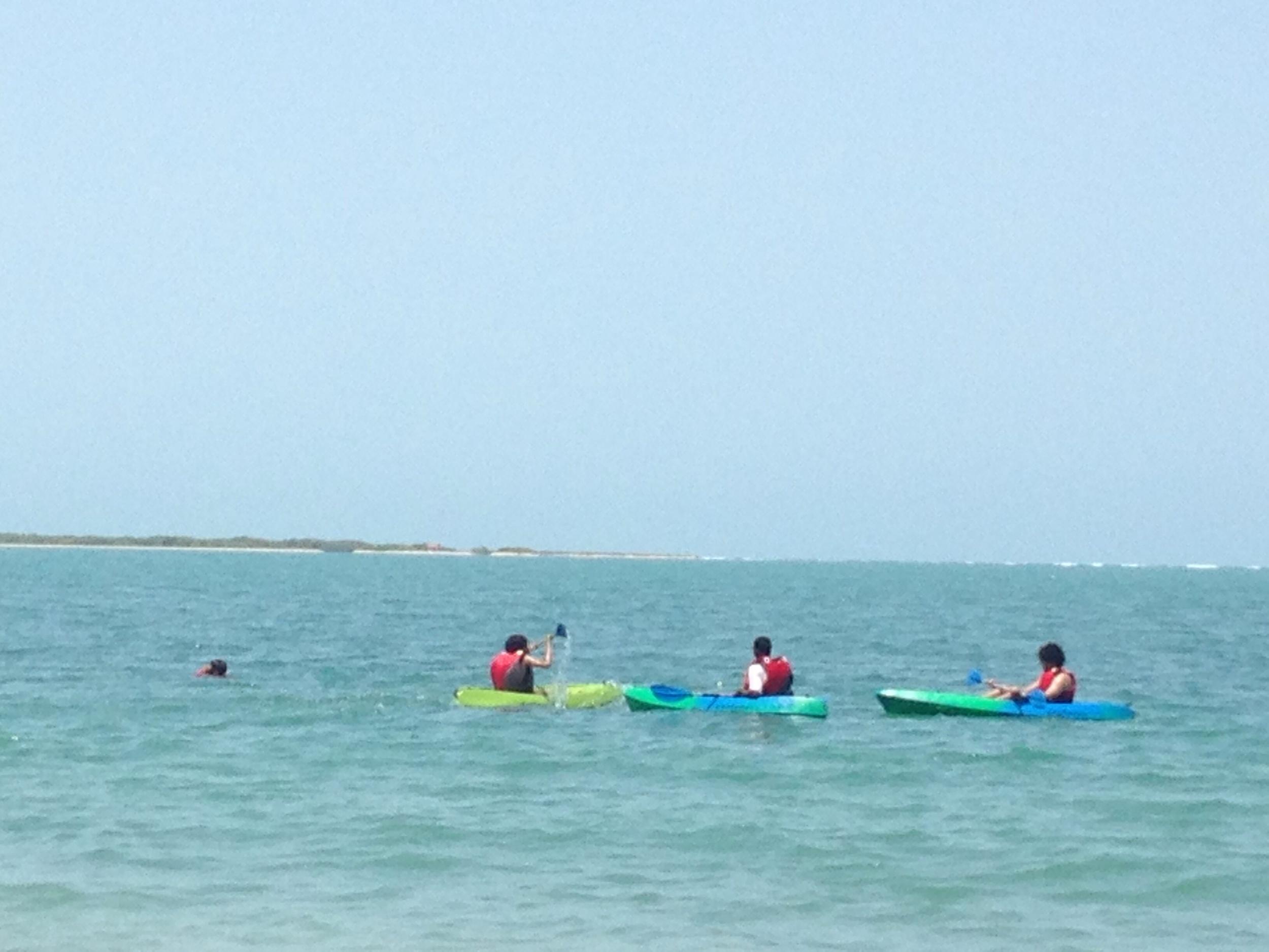 Kayaking in clear blue, kayaking in India