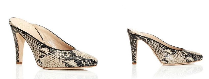 Brother Vellies Python Holiday Mule