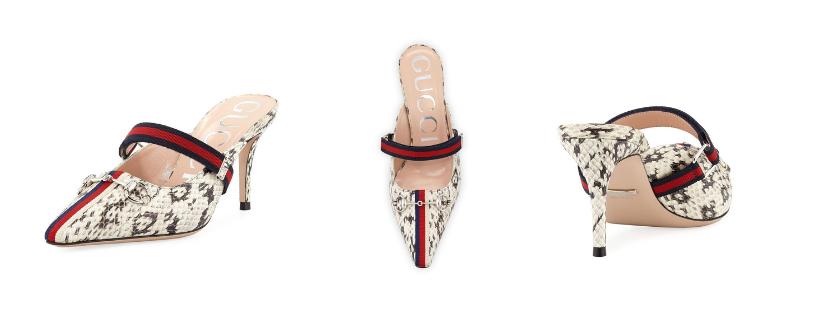 Gucci Emma Python Slide Mule