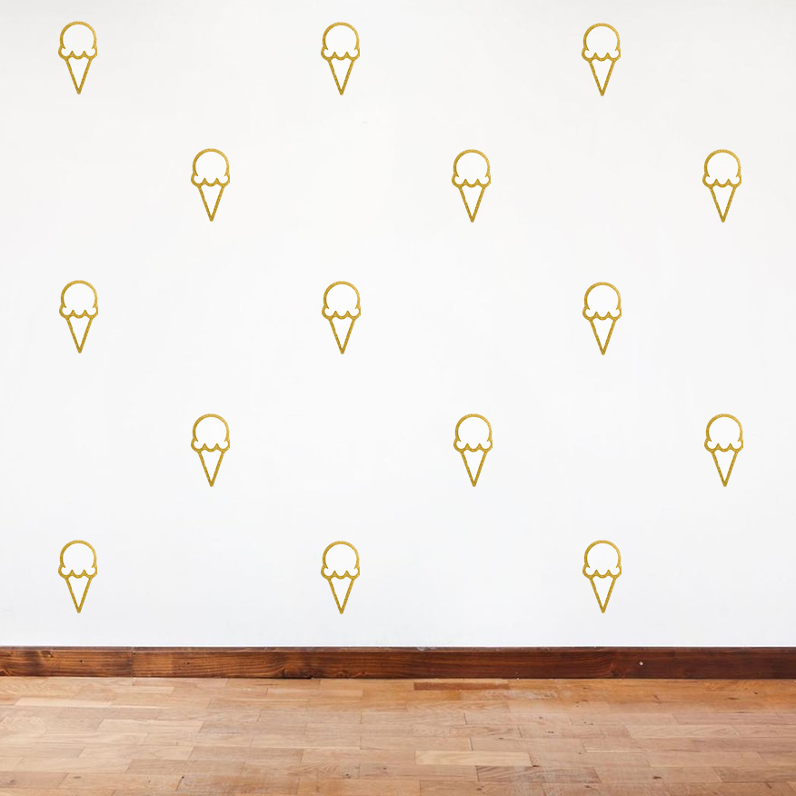 Mock-up of Ice Cream cone wallpaper for scoop shop.