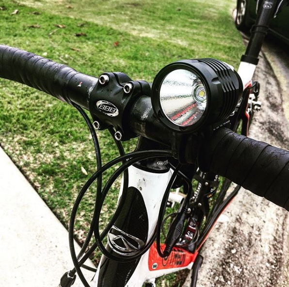 Good lights help. 1200 Lumens and a battery pack = no fail. Thanks Coast Cyclery