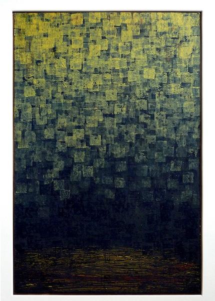 "title: Moon Grain media: Acrylic size: 10"" x 16"""