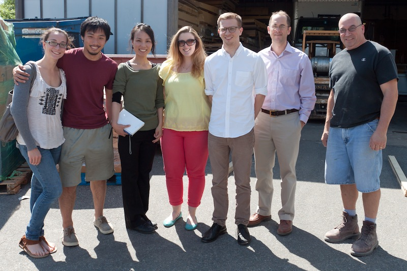 photo by Kye Liang: a field trip to Walter Furman Co. (from left: Jena, Shichong, me, Molly, Nick, Tim, and ... sorry.