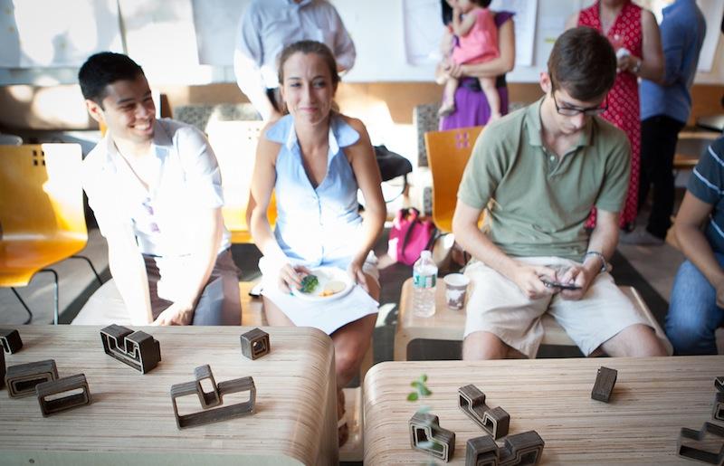 photo by Bonica Ayala: Opening day (from left: David, Jena, Matt)