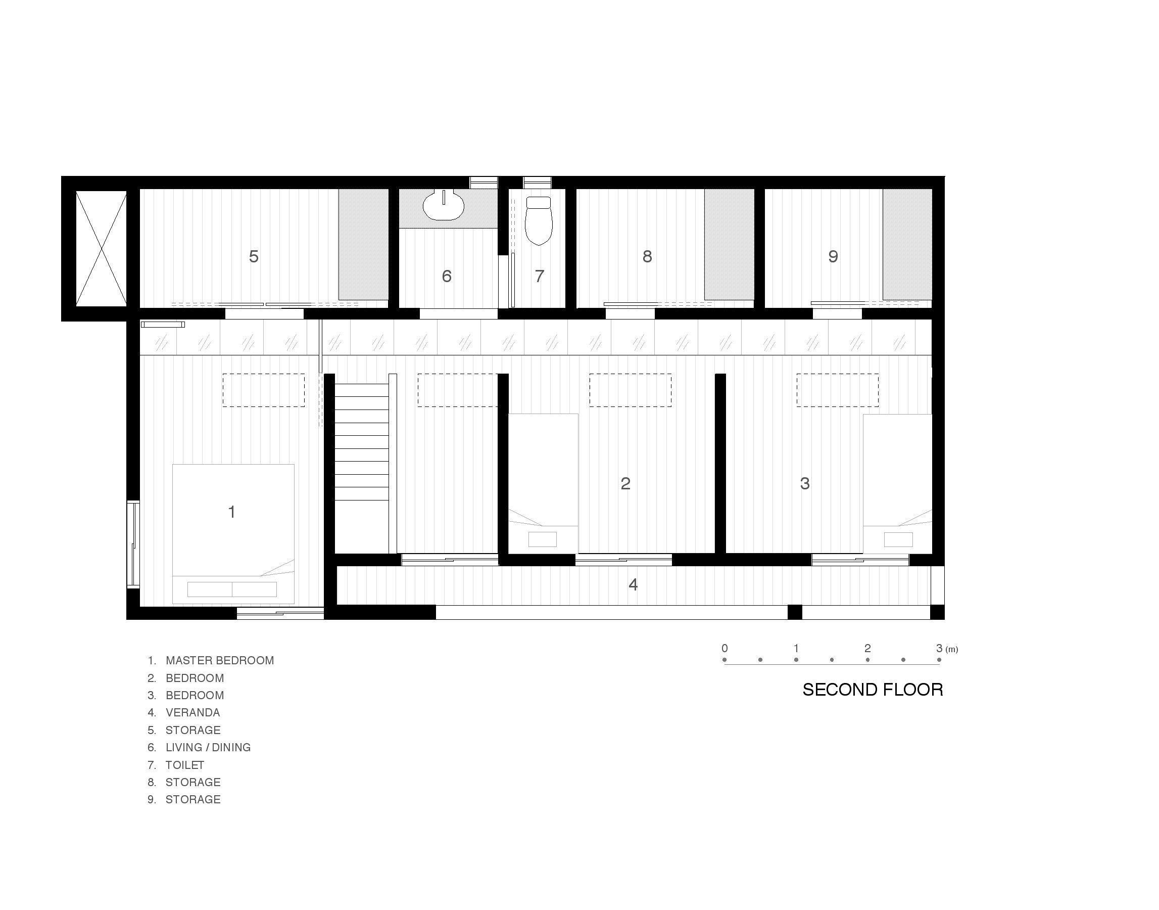 Second Floor Plan by Junko Yamamoto