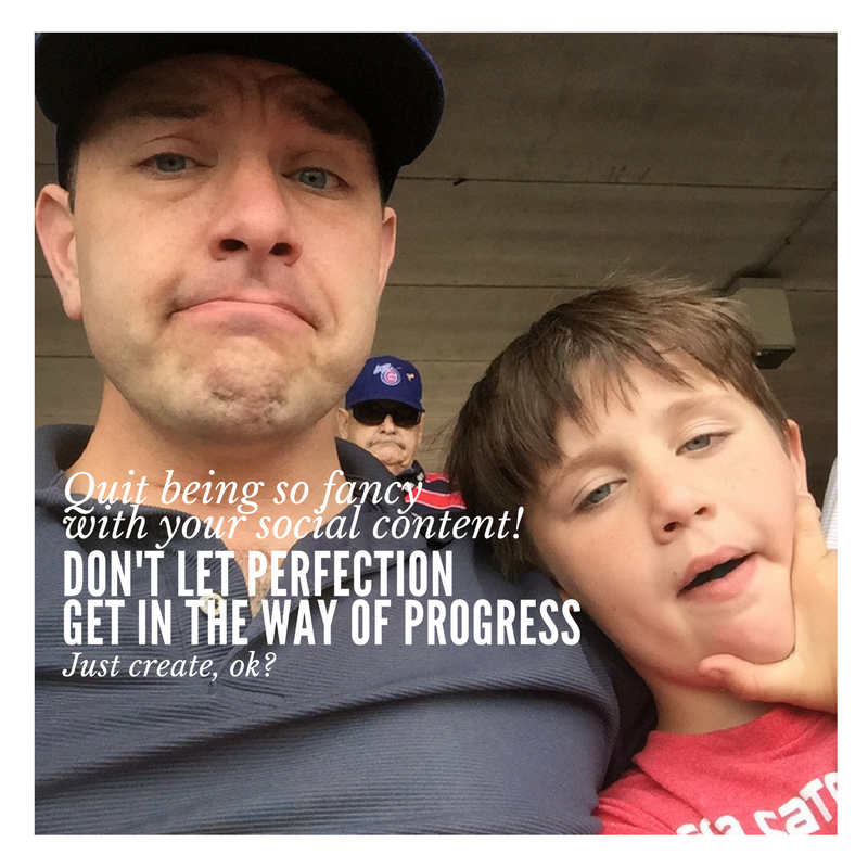 I picked this photo of my son and me at a baseball game because I didn't have any perfect photo to use. I just wanted to make sure to get this out there.