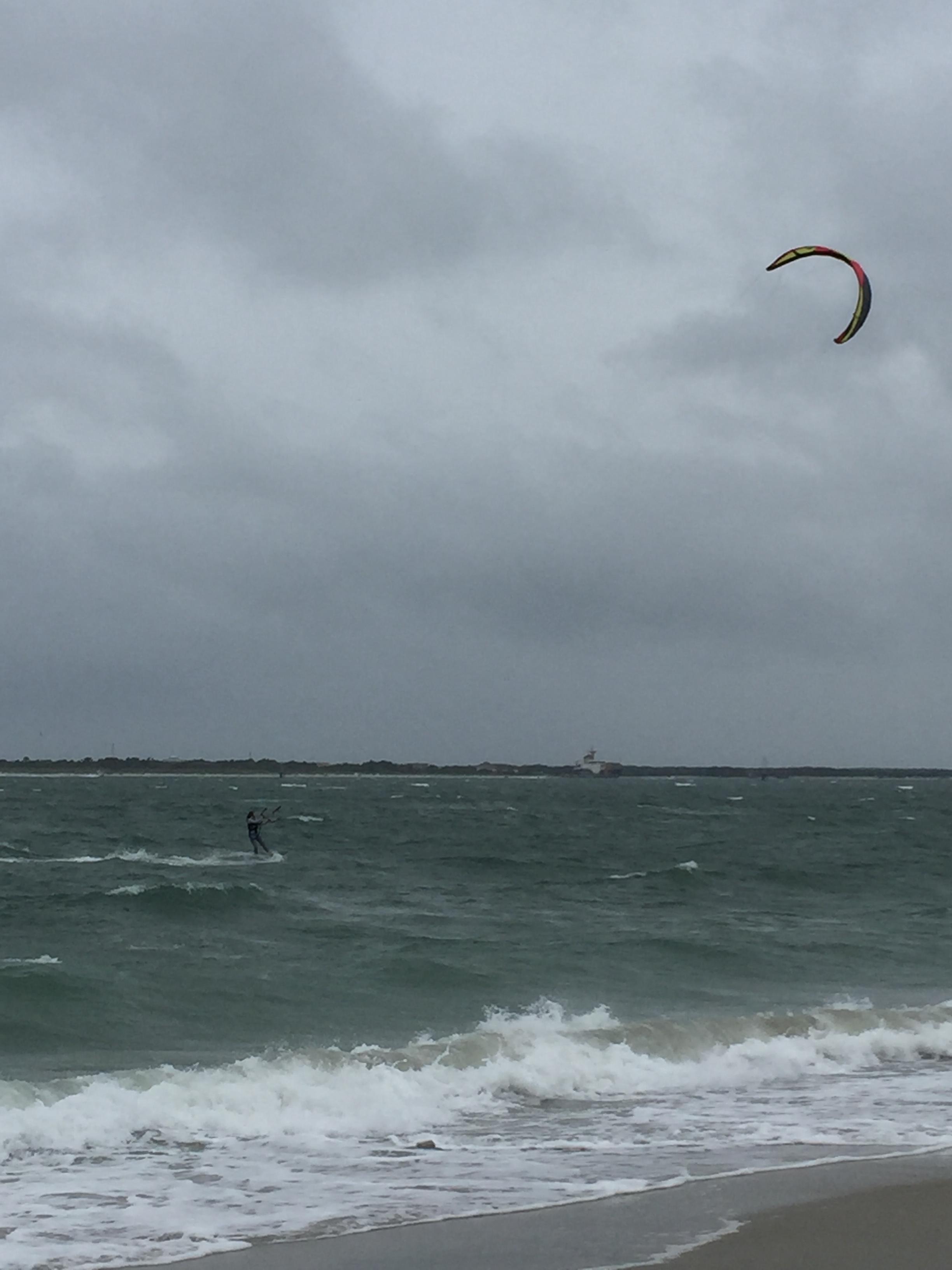 Betsy cruisin' on the Best Roca kite.